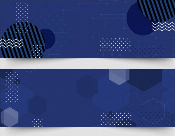 abstract background sets flat geometric decor