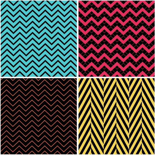 abstract background sets multicolored decor zigzag lines decor