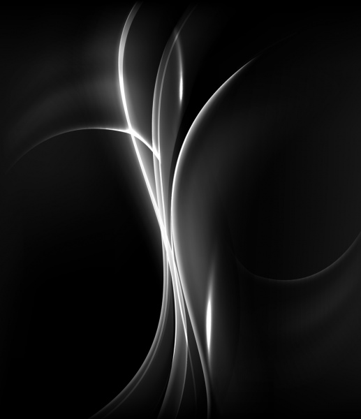 abstract background shiny curves dark black design