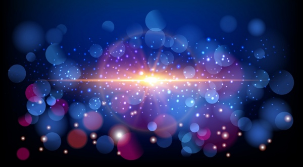 abstract background sparkling bokeh ornament