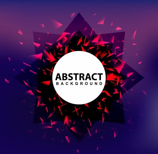 abstract background sparkling geometric splashed decoration