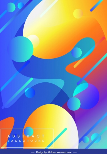 abstract background template colorful modern decor