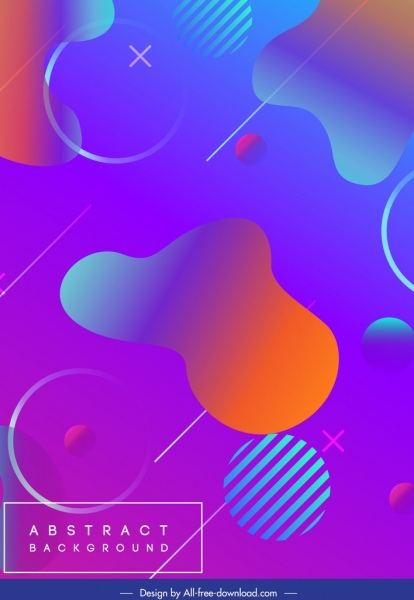 abstract background template modern colorful flat design