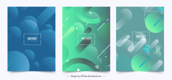 abstract background templates colored blurred geometric decor
