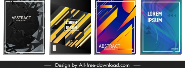 abstract background templates colored dynamic geometric decor