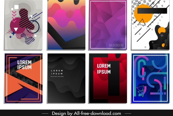 abstract background templates colored geometric deformation decor