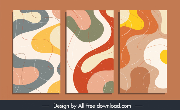 abstract background templates colorful deformed shapes sketch