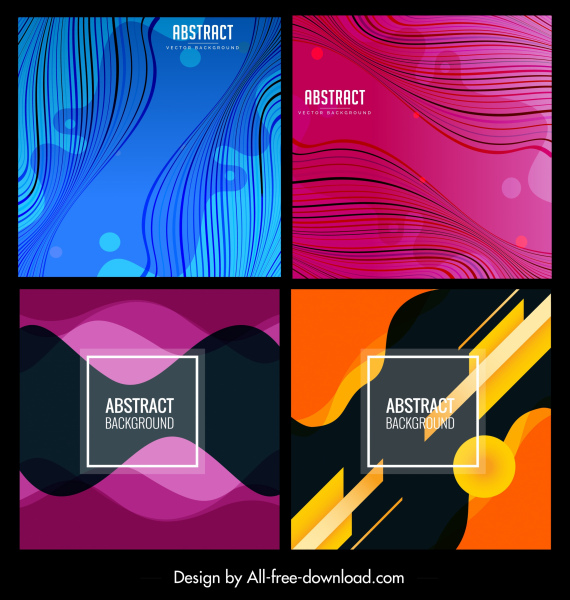 abstract background templates colorful dynamic curves decor