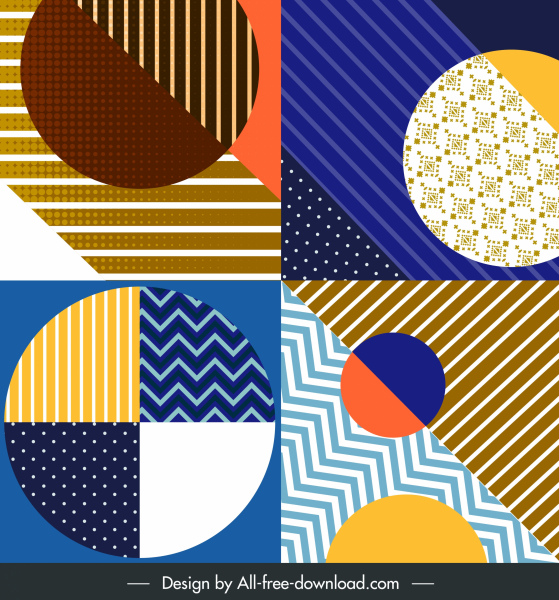 abstract background templates colorful flat circles decor