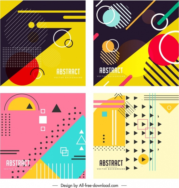 abstract background templates colorful flat geometric decor