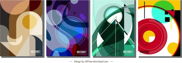 abstract background templates colorful flat geometric messy decor