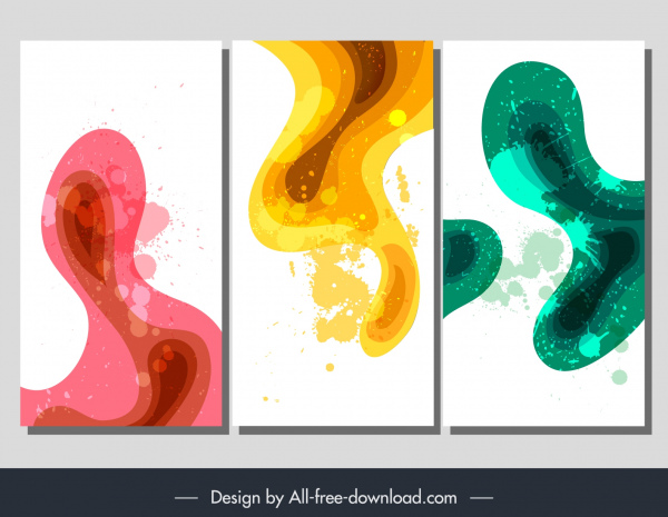 abstract background templates colorful grunge deformed shapes