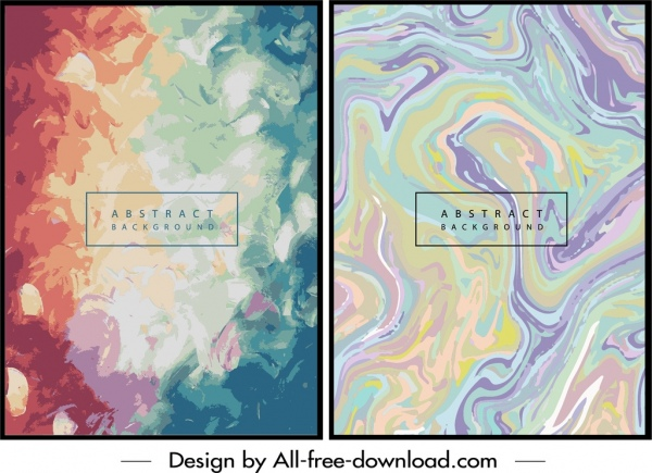 abstract background templates colorful water colors decor