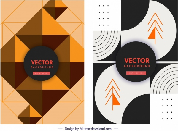 abstract background templates geometric decor