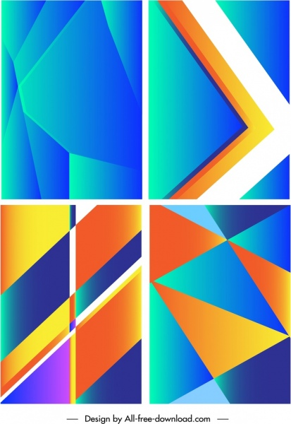abstract background templates modern bright colorful geometric decor