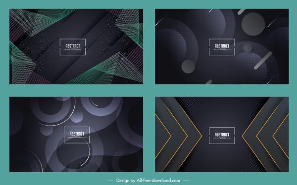 abstract background templates modern dark geometric decor