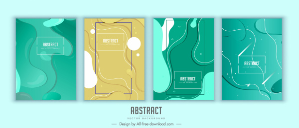 abstract background templates modern flat colored deformed shapes