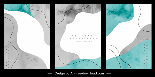 abstract background templates retro colored flat curves sketch