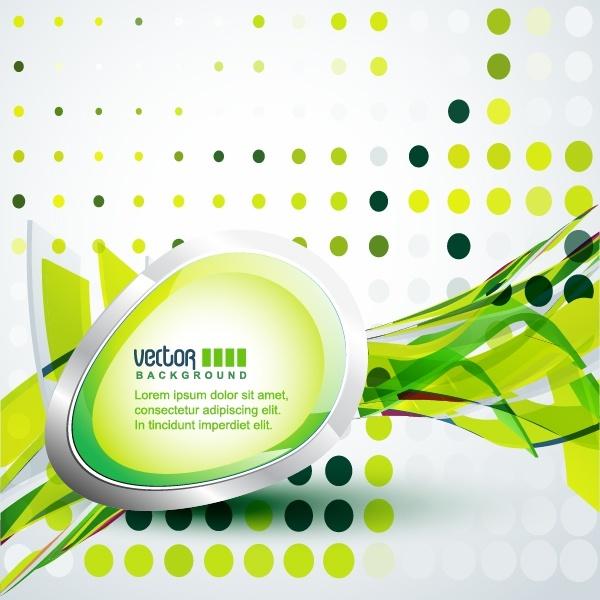 technology background bright green modern dynamic 3d