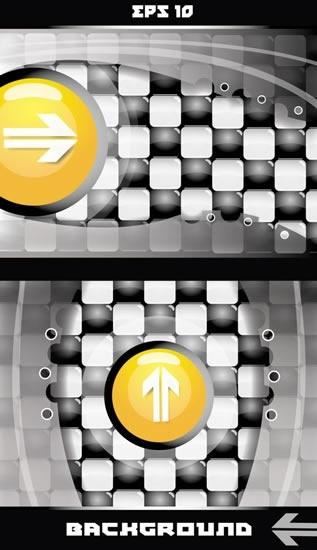 technology background templates modern shiny checkered arrow decor