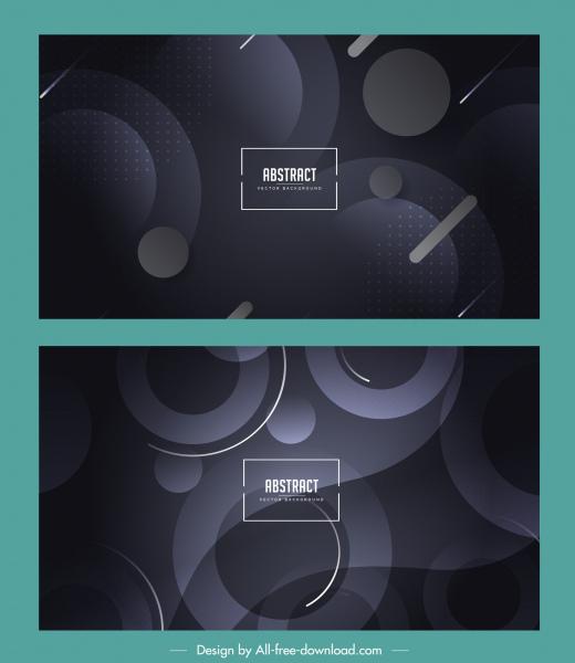 abstract backgrounds modern dark design flat circles decor