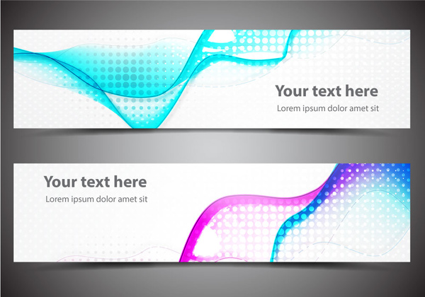abstract banners design sets with dazzling bokeh background