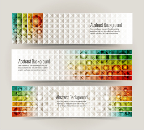abstract banners fashion vectors