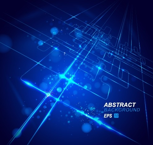 abstract blue light vector backgrounds