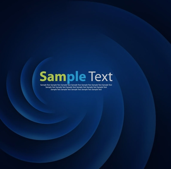 Abstract Blue Smooth Twist Vector Graphic