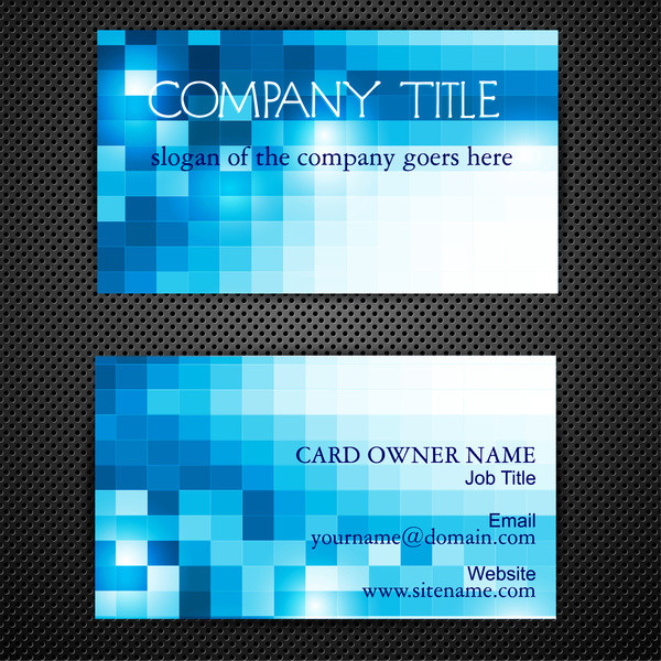 Abstract blue square business card templates free vector in adobe abstract blue square business card templates cheaphphosting Gallery