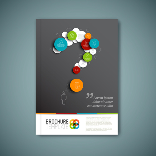 School Book Cover Design Templates : Cover page design template free vector download