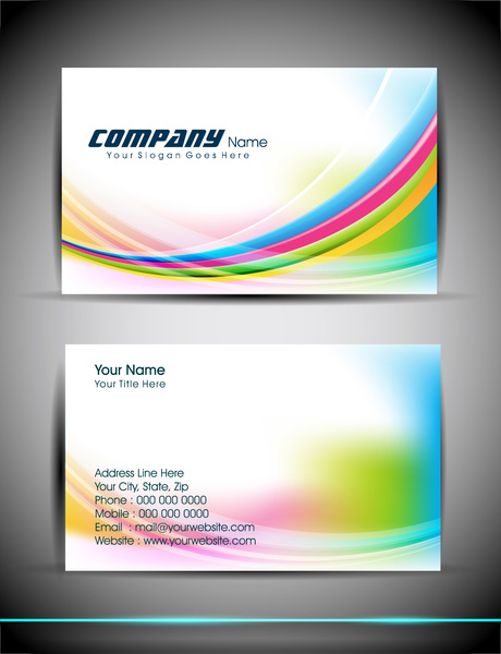 Abstract business card template free vector in adobe illustrator ai abstract business card template reheart Choice Image