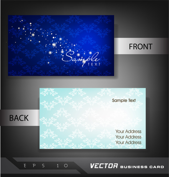 Business card template cute background free vector ...