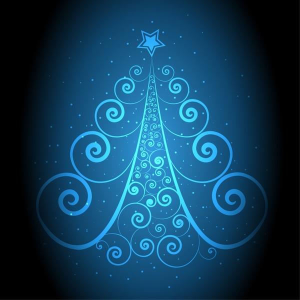 christmas background fir tree layout curves decor