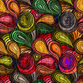 abstract color patterns vector graphic