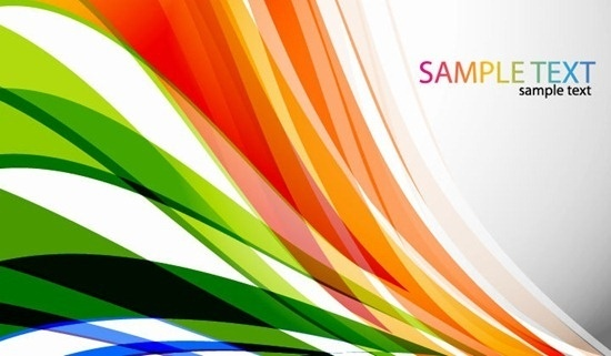 Abstract Colored Curves Vector Background