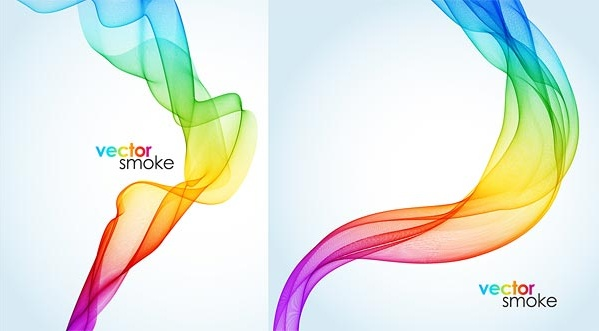 abstract colored smoke background design vector