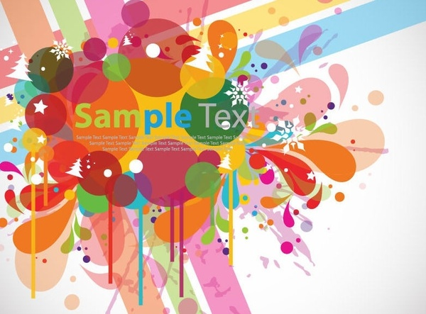 Abstract Colorful Design Background Vector