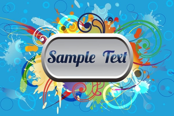 Abstract Colorful Frame Vector Illustration