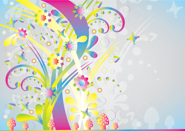 abstract colorful nature background