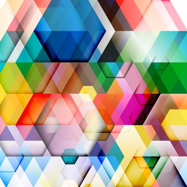 abstract colorful triangle pattern background vector illustration