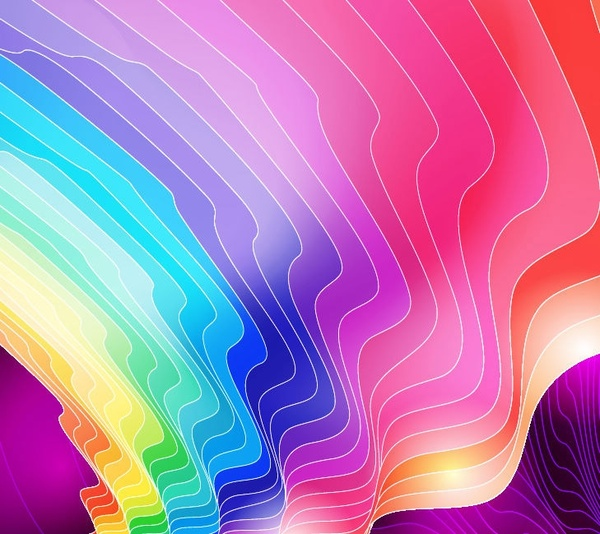 abstract colorful background curves decoration illusion style