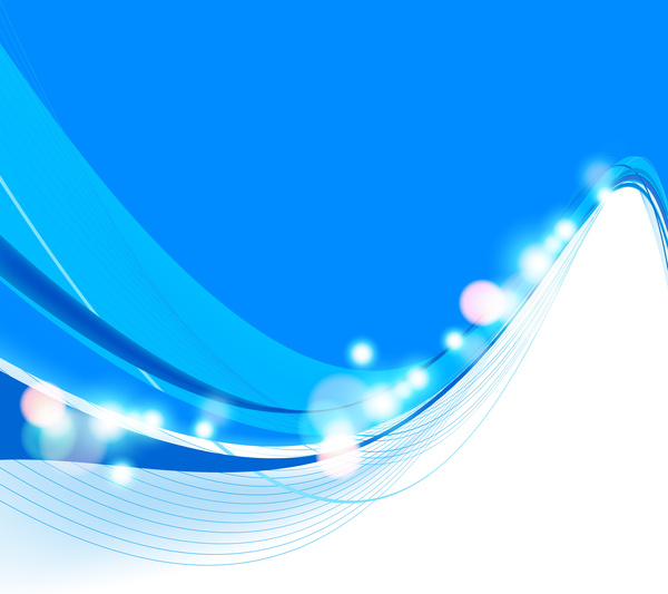 Abstract Colorfull Blue Wave Vector Background Free Vector
