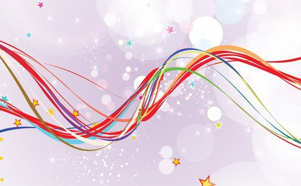 abstract background colorful curved lines bokeh decor