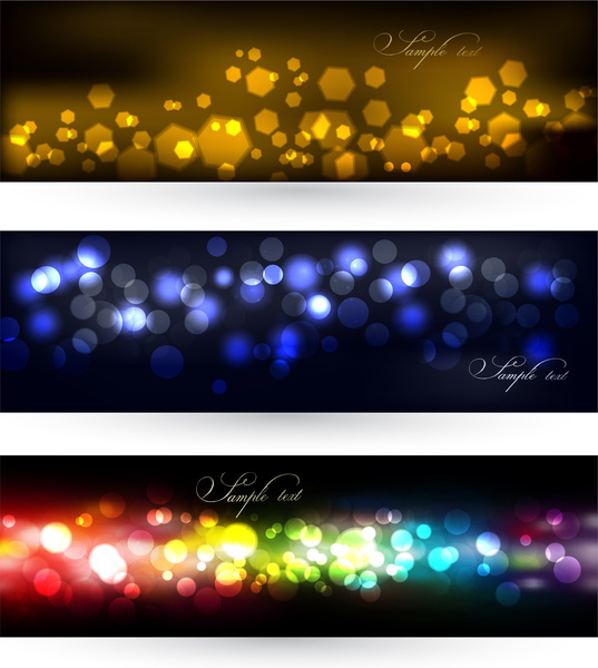 abstract defocus light banner background