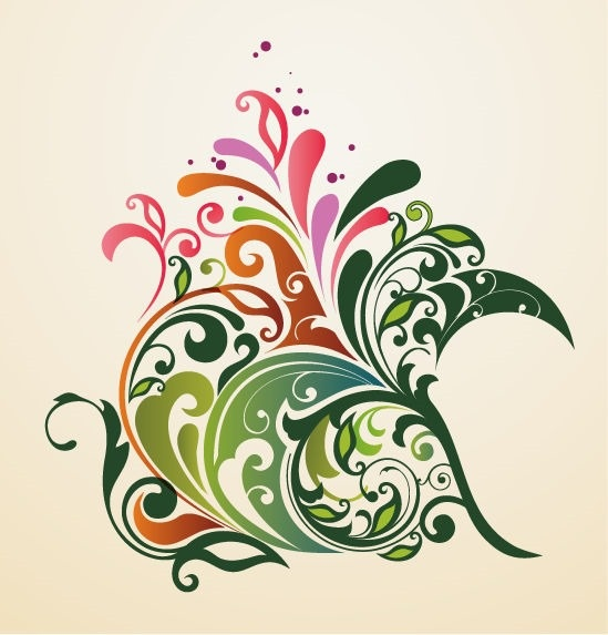 Abstract Design Floral Ornament Background Vector Graphic