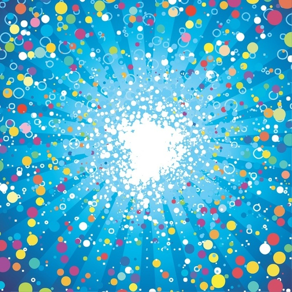 Abstract Fancy Dots Background Vector