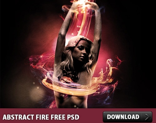 Abstract Fire Free PSD