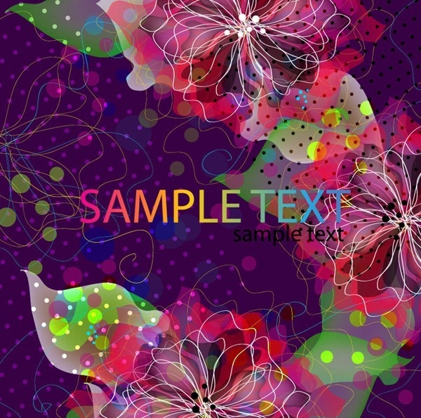 abstract floral vector artwork