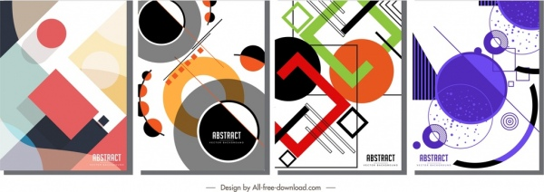 abstract geometric background templates modern colorful flat decor